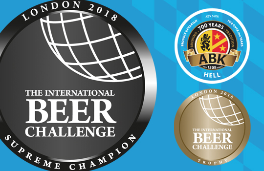 ABK Hell Wins International Beer Challenge 2018 Supreme Champion